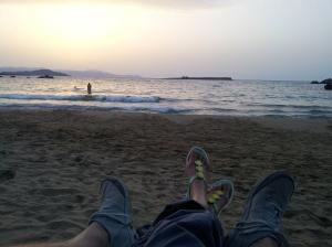 sundown. Creta