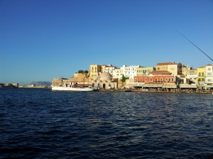 old Venetian port in old town Chania (Canea)